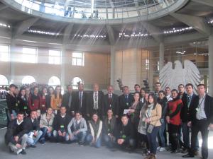 Studentët e Fakultetit Juridik të UEJL-së qëndruan në Bundestagun